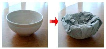 茶碗の荷造り方法