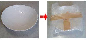 大皿の梱包方法